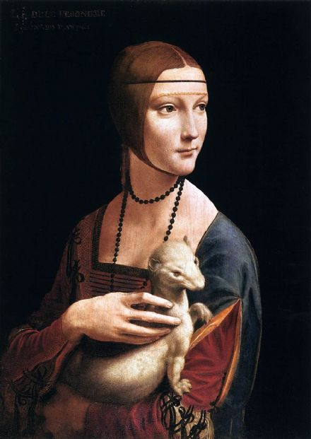 Da Vinci, Leonardo: The Lady with the Ermine, 1496. Fine Art Print.  (00119)